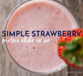 Simple Strawberry Protein Shake