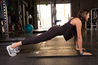 Push up to Plank Position