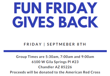 STS Fun Friday Gives Back Workout – September 8th
